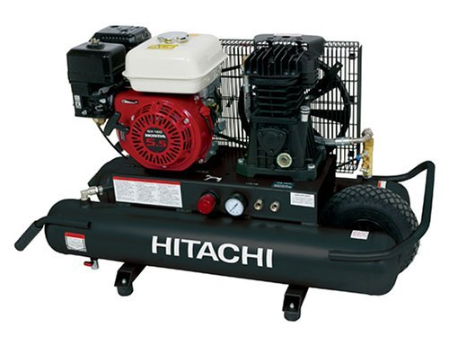 Factory-Reconditioned: Hitachi EC2510E 5.5-Horsepower Gas Oiled Twin Pontoon Compressor