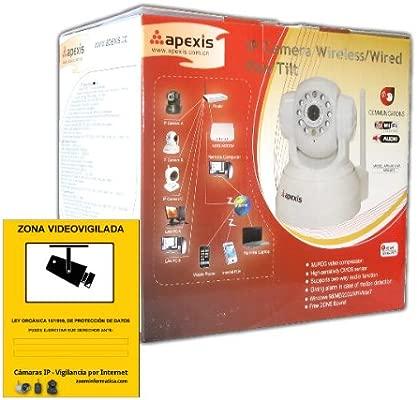 Camara videovigilancia WIFI IP blanco VISION CON CABLE APM-J011-WS apexis GENUINA BLANCA WIRELESS VIGILANCIA SEGURIDAD CON CARTEL ALARMA REGALO GRATIS ...