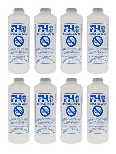 FHS SmokeLess Regular Car Oil, 1 Quart, 8-Pack