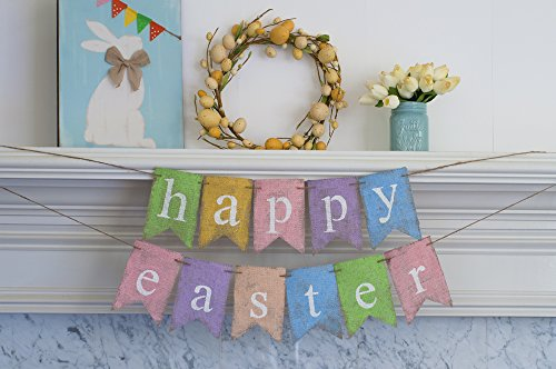 Easter Burlap Banner, Happy Easter Banner , Easter Egg Hunt, Spring Banner B394 Easter Egg Hunt Pictures