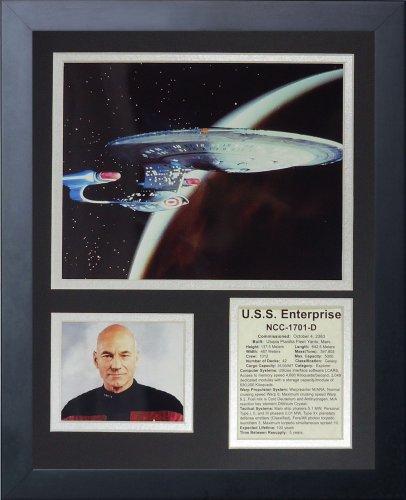"Legends Never Die ""Star Trek: Next Generation Ship Framed Photo Collage, 11 x 14-Inch"