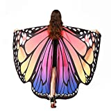 Fairy Wings Butterfly Wings, Soft Fabric Butterfly Wings Shawl Scarf Fairy Pixie Costume Accessory for Party Show (Hot Pink)