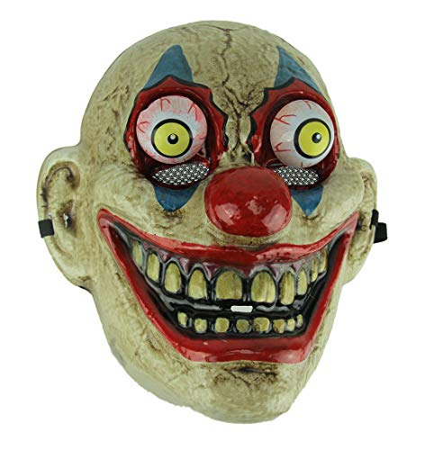 Blue Eye Old Looking Creepy Googly Eyed Clown Mask