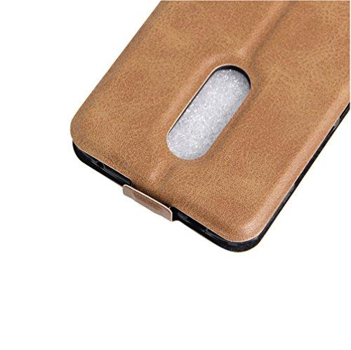 Funda ZTE Blade AXON 7,Manyip Caja del teléfono del cuero,Protector de Pantalla de Slim Case Estilo Billetera con Ranuras para Tarjetas, Soporte Plegable, Cierre Magnético B