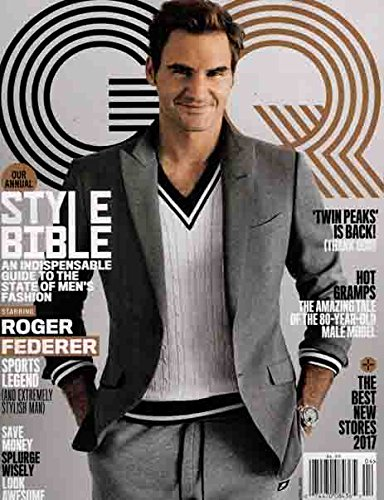 GQ Magazine (April, 2017) Style Bible Starring Roger Federer Sports Legend and Extremely Stylish Man