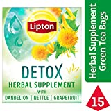Cheap Lipton Herbal Supplement with Green Tea, Detox, 15 ct