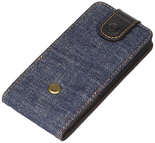 QIOTTI QX-F-0110-01-IP5S Flipcase Q.Flip Denim Premium Echtleder für Apple iPhone 5/5S blau