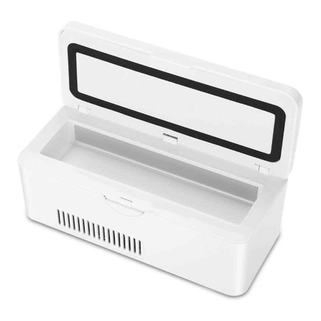 Refrigerador de insulina Caja port/átil refrigerada por insulina port/átil de Viaje USB Que refresca la peque/ña Caja del refrigerador