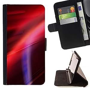 Momo Phone Case / Flip Funda de Cuero Case Cover - Puesta de sol Púrpura Rojo Rosa - Samsung Galaxy J1 J100