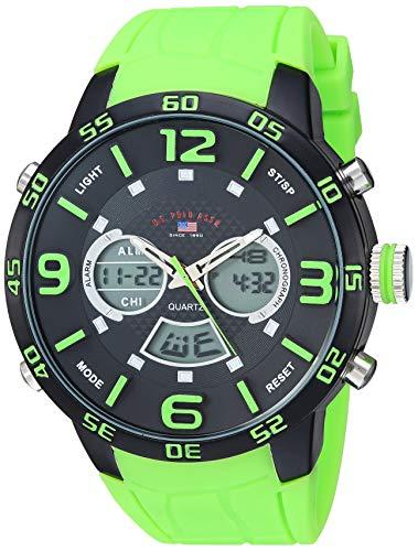 U.S. Polo Assn. Men's Analog Quartz Watch with Rubber Strap US9543