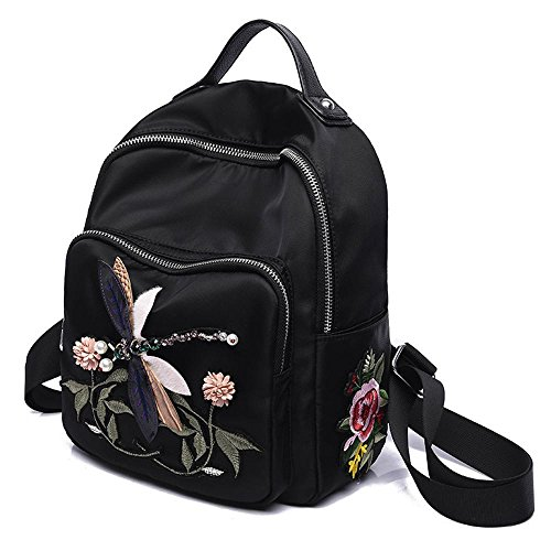 Aoligei Femmes Sac Broderie de perceuse à Main Sac à Main Mode 3D Libellule Backpack