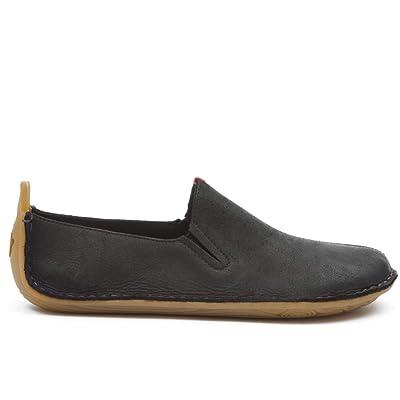 vivobarefoot Mens Ababa Black Leather Slip On | Loafers & Slip-Ons
