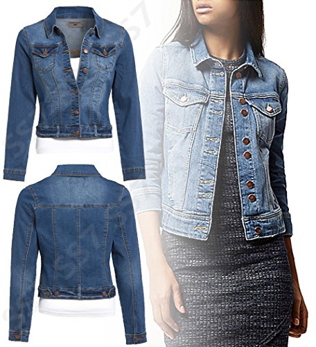 D en femmes 16 Tailles Mi pour Veste jeans 8 SS7 Extensible nouvelles TSqxSF4