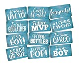 Photo Booth Props Set It's a Boy Perfect for Blue Baby Shower 6pc Double Sided