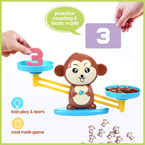 CoolToys Monkey Balance Cool Math Game for Girls & Boys | Fun, Educational Children's Gift & Kids Toy STEM Learning Ages 3+ (65-Piece Set)