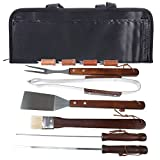 Natico 60-BBQ-11 11 Piece BBQ Set, Stainless Steel/Wood
