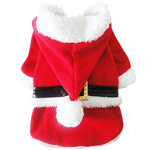 [Legendog Small Dog Christmas Costume Pet Santa Claus Clothes Outfit Apparel] (Dog Outfits For Christmas)