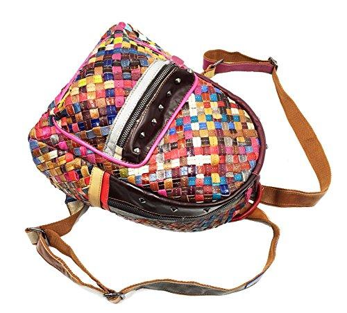 Dos Sac À Peau Rainbow L'extérieur Handbags En Mouton De Pour 0kNXOn8wPZ