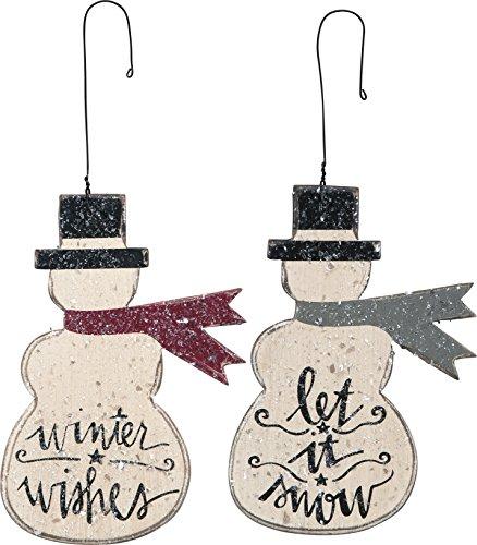 Let It Snow Ornaments Set of 2 Snowmen ()