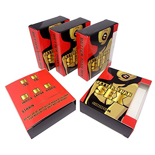 50 Better Than Sex Standard Oil Empty Display Packaging Boxes by Shatter Labels VB-020
