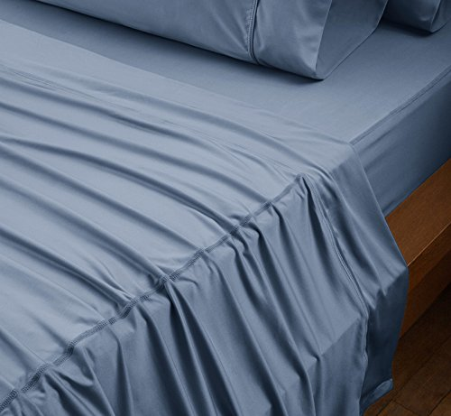 SHEEX - ORIGINAL PERFORMANCE Sheet Set with 2 Pillowcases, Ultra-Soft Fabric Transfers Body Heat and Breathes Better than Traditional Cotton, Carolina Blue (Queen) by Sheex (Image #1)'