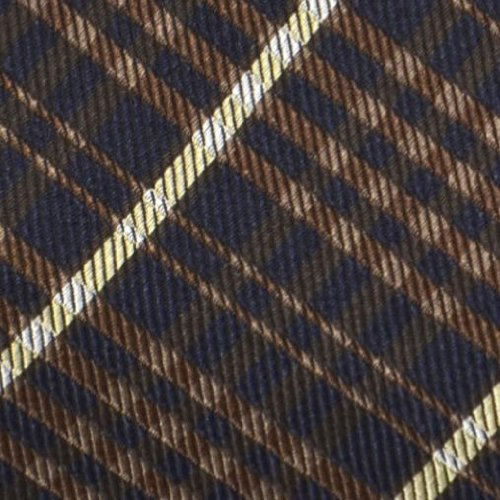 dark brown Plaid Square beige Silk in and pattern Men's Pocket blue Notch white qS1Wc08w
