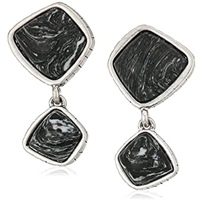 The Sak Womens Double Stone Drop Clip-On Earrings for sale