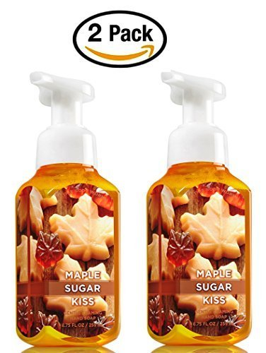 Bath & Body Works Maple Sugar Kiss Hand Soap - Pack of 2 Maple Sugar Scented Gentle Foaming Hand Soaps