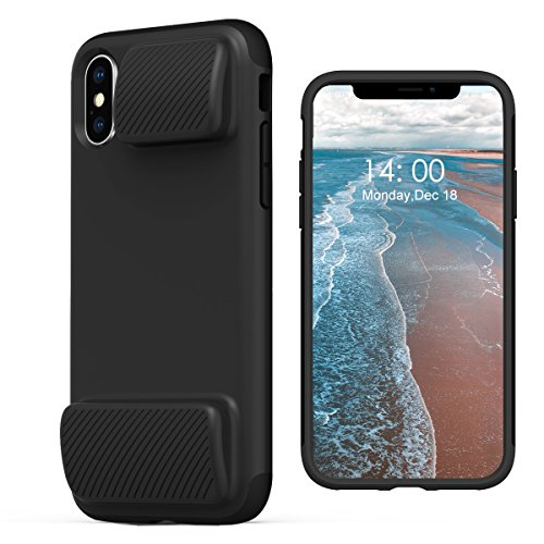 KUUFER Two-Layer Defender iPhone X Case with Game Handles Compatible for Apple iPhone X 2017 (black)