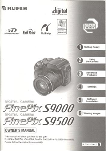 Fuji Fujifilm FinePix S9000 / S9500 Original Instruction manual