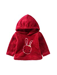 Mud Kingdom Baby Girl Soft Fleece Hooded Sweater