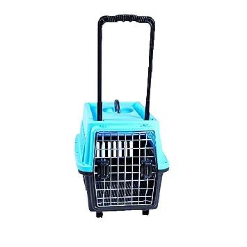 Pet supplies Caja de Transporte para Mascotas con Ruedas- para el Transporte de Animales Vivos