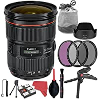 Canon EF 24-70mm f/2.8L II USM Lens + Deluxe Accessory Bundle
