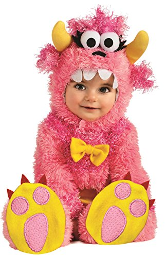 Month Girl 12 Halloween Costumes (Rubie's Costume Noah's Ark Pinky Winky Monster Romper Costume, Pink, 6-12)