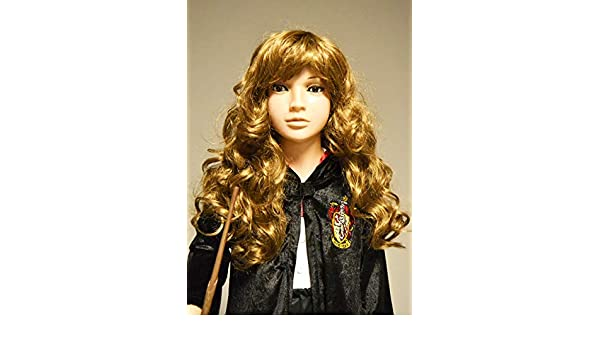 Magic Box Peluca rizada marrón con Flecos Estilo Hermione Granger ...