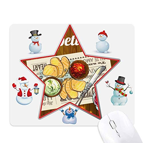 read Wine Christmas Snowman Family Star Mouse Pad ()