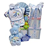 ABC Baby Tower Gift Basket with It's a Boy English Ribbon