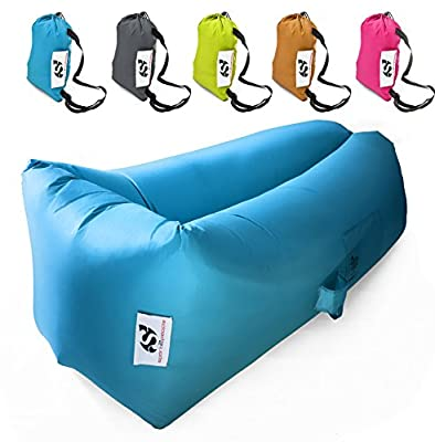 Inflatable Air Lounger Bag – Hangout Air Bed Sofa with Unique Wide Lying Area for Indoor and Outdoor - Pouch Couch Hammock for Your Best Comfort