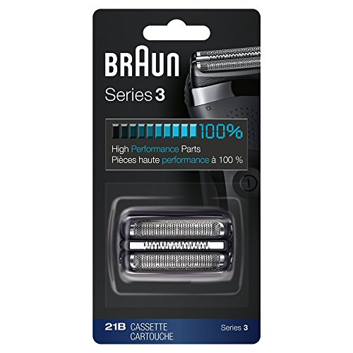 Braun 21B Series 2 Electric Shaver Replacement Foil and Cassette Cartridge - Black ()