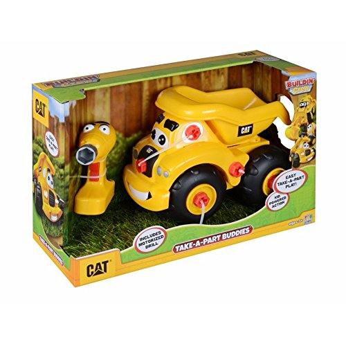 Toy State Caterpillar CAT Buildin' Crew Take-A-Part Buddies Haulin' Harry Dump Truck Light & Sound (Parts Cat)