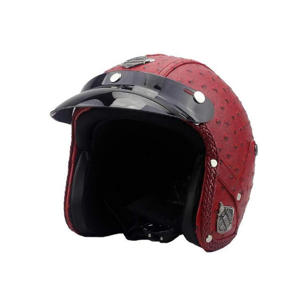 ヘルメット オートバイのヘルメット、レトロオートサイクルヘルメット男性女性オールラウンドサイクリング安全キャップペダルオートバイ電気自動車 XL E B07Q1WL84W