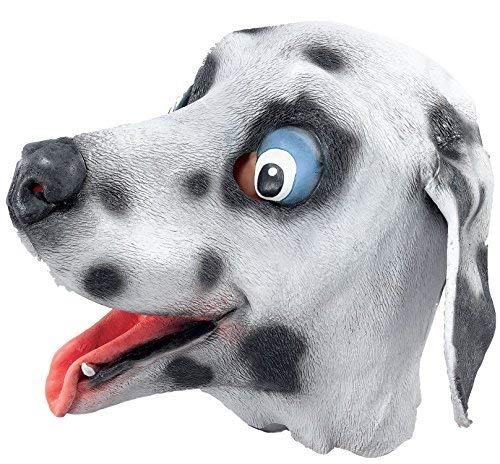 Adult Ladies Mens Dalmatian Dalmation Dog Rubber Full Face Mask Animal Halloween Fancy Dress Costume Outfit Accessory (Dalmatian) ()