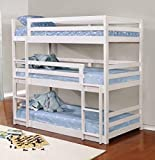 Coaster Triple Bunk Bed (White), 401302