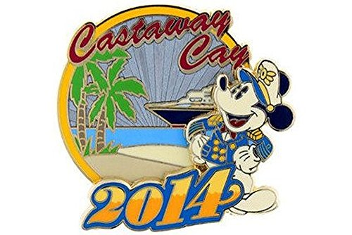Disney Cruise Line DCL - 2014 Castaway Cay with Captain Mickey Pin (Disney Dream Pin)
