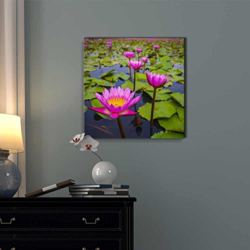 Beautiful Scenery Landscape Beauty Pink Lotus Flower Wall Decor
