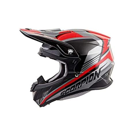 58745101 Scorpion VX-R70 Ascend Off-Road Motorcycle Helmet (Silver/Red, Medium):  Amazon.in: Car & Motorbike