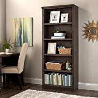Better Homes and Gardens Crossmill 5-Shelf Bookcase, Heritage Walnut