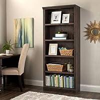 Better Homes and Gardens Crossmill 5-Shelf Bookcase, Heritage Walnut