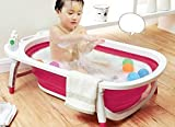 Kairos Baby Foldable Bath Tub Collapsible Portable - Pink