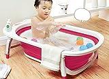 Kairos Baby Foldable Bath Tub Collapsible Portable - Pink